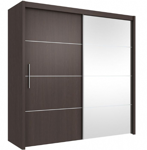 Carlo Sliding Door Wardrobe 201cm in Wenge - 2416